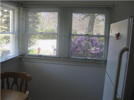 Hyannis Cape Cod vacation rental - kitchen with outside door & 5 windows for great air flow & VIEW