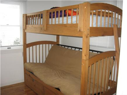Hyannis Cape Cod vacation rental - Bedroom #2  bunkbed that folds down to full bed- memory foam