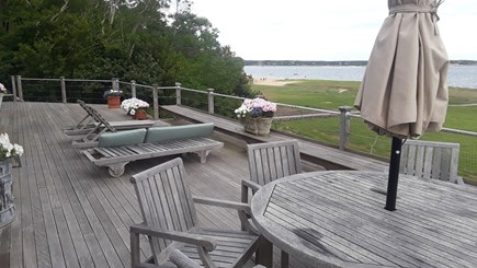 Wellfleet Cape Cod vacation rental - Oversized deck with indelible views of the bay and Great Island