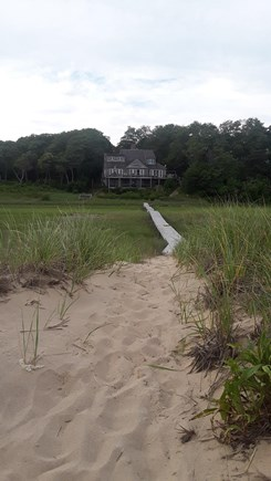 Wellfleet Cape Cod vacation rental - View of house from our private beach