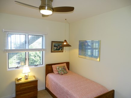 N.Truro Bay Village Cape Cod vacation rental - bedroom with pull out trundle bed off den, new mattresses