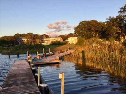 East Falmouth Cape Cod vacation rental - Backyard from Dock looking at Back of House