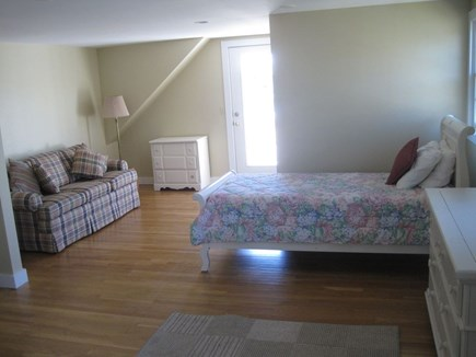 East Falmouth Cape Cod vacation rental - Upstairs bedroom with twin, queen and pull-out sofa bed