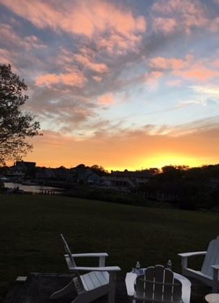 East Falmouth Cape Cod vacation rental - Backyard Sunset