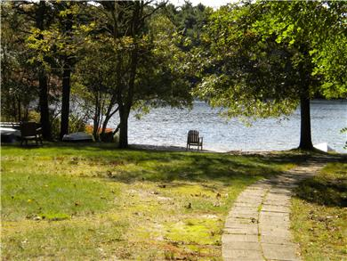 East Falmouth Cape Cod vacation rental - Lake access road