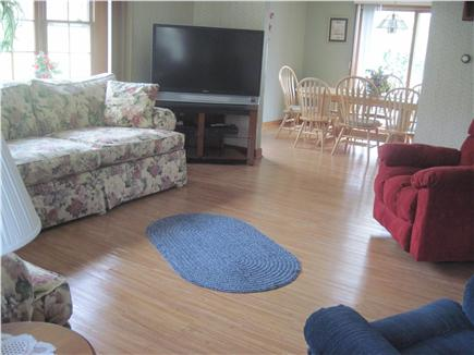 East Orleans Cape Cod vacation rental - Large living room with 2 couches opens to dining room. New floors