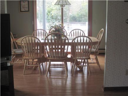 East Orleans Cape Cod vacation rental - Dining room looking out onto deck and pool area