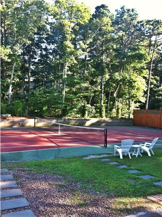 North Falmouth Cape Cod vacation rental - Huge back yard with full size tennis court