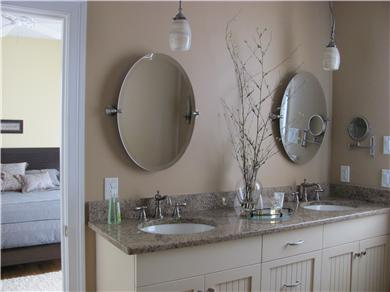 North Falmouth Cape Cod vacation rental - Master bath w/5'x5' shower, His & Hers sinks w/granite.