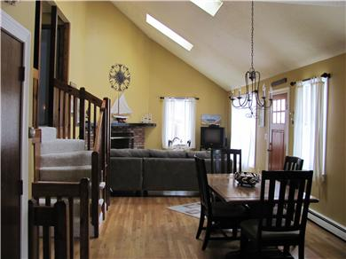 North Falmouth Cape Cod vacation rental - This second dining area seats 10. Built in pantry and cabinetry.