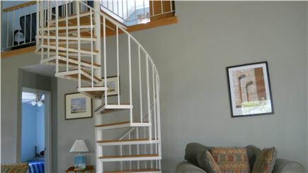 Brewster Cape Cod vacation rental - Spiral Staircase to Spacious Loft