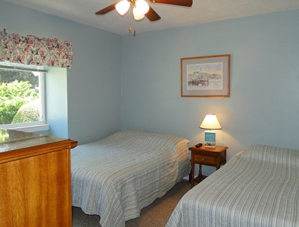 Brewster Cape Cod vacation rental - Second bedroom with full and twin beds and flat screen TV