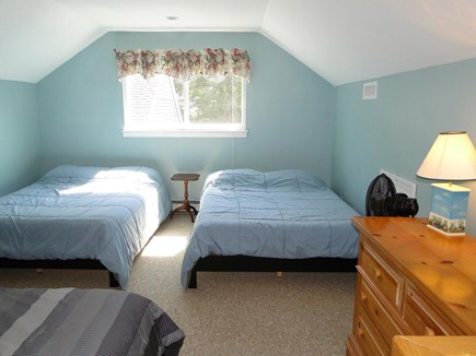 Brewster Cape Cod vacation rental - Upstairs loft with two full beds and a twin