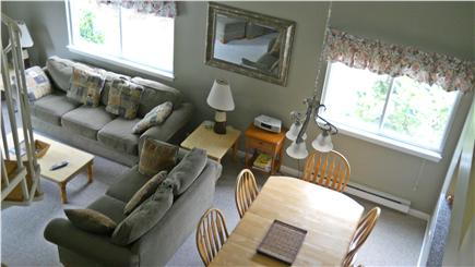 Brewster Cape Cod vacation rental - Step out from open living area thru sliders to back patio