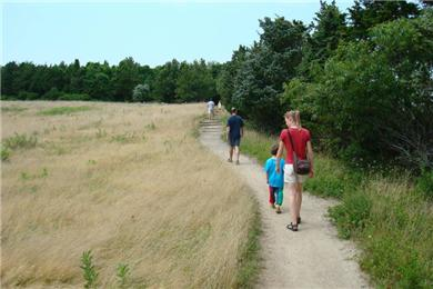 Eastham Cape Cod vacation rental - Walking the Fort Hill Path