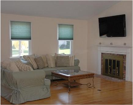 Chatham Cape Cod vacation rental - Great room incl fireplace. Lg-screen tv; free wireless Internet