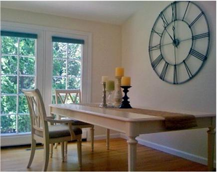 Chatham Cape Cod vacation rental - Farmer's table seats eight. French doors lead to...