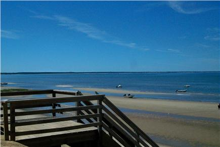 Eastham Cape Cod vacation rental - Stairs down to Thumpertown Beach at low tide