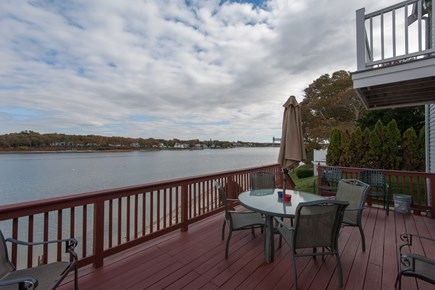 Bourne, Buzzards Bay Cape Cod vacation rental - Ocean view from the deck