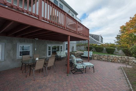 Bourne, Buzzards Bay Cape Cod vacation rental - Rear exterior, lower deck and porch