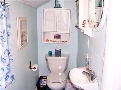 North Truro Cape Cod vacation rental - Tiled shower and remodeled bathroom