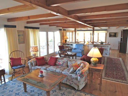 Brewster Cape Cod vacation rental - Open living and dining areas dominate the main level
