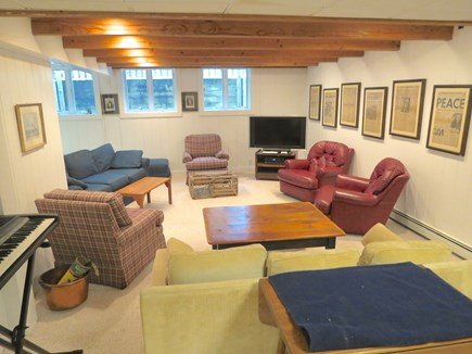Brewster Cape Cod vacation rental - Spacious furnished lower level with pin pong and more for kids