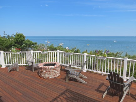 Brewster Cape Cod vacation rental - Huge deck, elevated 180-degree view of the Bay are very special.