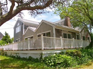 Brewster Cape Cod vacation rental - Great outdoor living and dining on the house-width deck