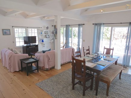 Brewster Cape Cod vacation rental - Open interior living space with sliders to deck
