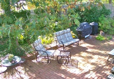 Brewster Cape Cod vacation rental - Big private patio with gas grill.  Nice & shady after the beach.