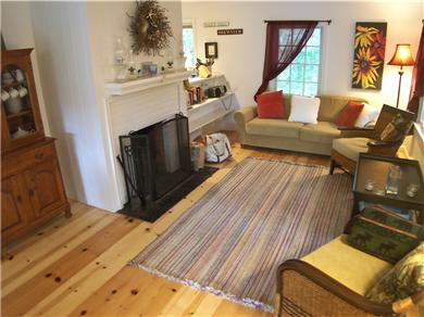 Brewster Cape Cod vacation rental - Fireplace lounge area, main level