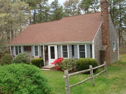 Wellfleet Cape Cod vacation rental - Enter home into cathedral ceiling living room