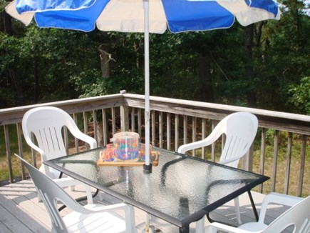 Wellfleet Cape Cod vacation rental - Private deck off of kitchen