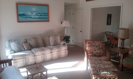 Wellfleet Cape Cod vacation rental - Living room with high ceiling