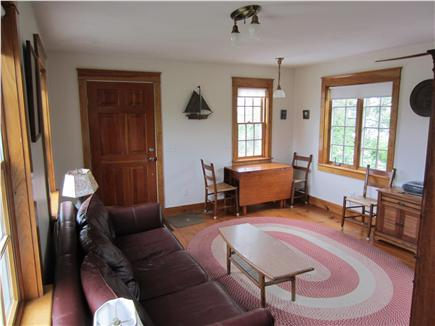 East Dennis Cape Cod vacation rental - Living Room & Dining Area with side door to house