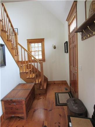 East Dennis Cape Cod vacation rental - Stairs to bedroom with front entry to right