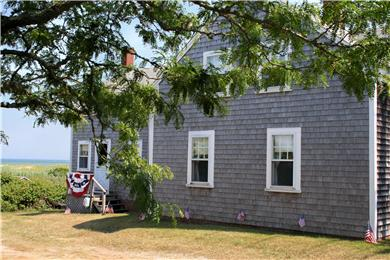 Chatham Cape Cod vacation rental - Driveway with a view of Chatham Harbor in background