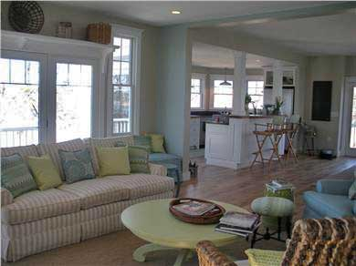 Pocasset, Bourne Pocasset vacation rental - Living room thru to open kitchen