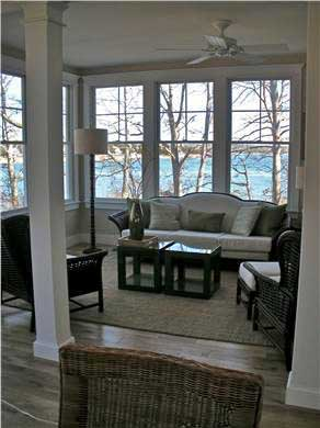 Pocasset, Bourne Pocasset vacation rental - Family/Den with view of Red Brook Harbor