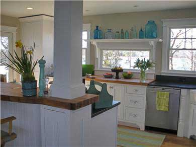 Pocasset, Bourne Pocasset vacation rental - Kitchen with teak and granite countertops