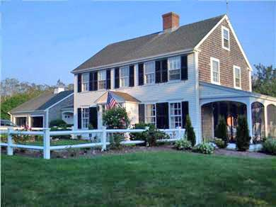 Nauset Heights, East Orleans Cape Cod vacation rental - Side view of house with view of screened porch