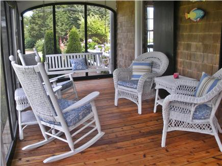 Nauset Heights, East Orleans Cape Cod vacation rental - Screened porch with views of spacious back yard