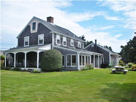 Nauset Heights, East Orleans Cape Cod vacation rental - Spacious back yard with picnic table, outside shower and patio