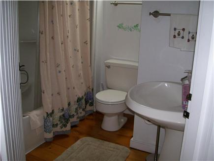 New Seabury, Maushop Village,Mashpee Cape Cod vacation rental - Upstairs full bathroom. Tub & Shower-sky light.