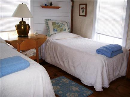 New Seabury, Maushop Village,Mashpee Cape Cod vacation rental - Up Stairs bed room w/ double & twin  bed, 3 windows w/ocean view