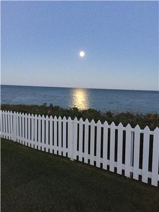 New Seabury, Maushop Village,Mashpee Cape Cod vacation rental - Looking over the fence at a full moon. Sun rise just as lovely.