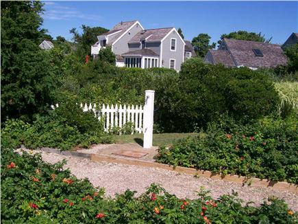 New Seabury, Maushop Village,Mashpee Cape Cod vacation rental - MV Beach new foot bath & beach path w/ Rosa Ragosas on ea. side.