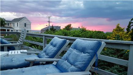 Eastham Cape Cod vacation rental - Sunsets from the deck - treetop living with bay views!