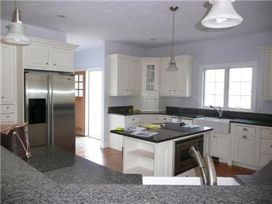 Falmouth Cape Cod vacation rental - Granite kitchen, Viking Stove and overlooks family room